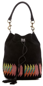 Liebeskind Berlin Debby Embroidered Suede Bucket Bag