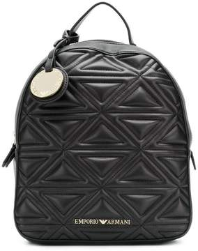 Emporio Armani quilted effect backpack