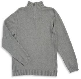 Calvin Klein Jeans Boy's Turtleneck Cotton Sweater