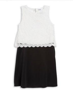 Dex Girl's Colorblock Lace Dress