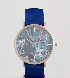 Reclaimed Vintage Inspired Hawaiian Canvas Watch In Navy Exclusive To ASOS