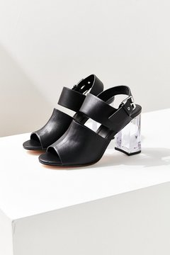 Urban Outfitters Buckled Lucite Heel