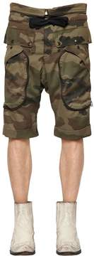 Faith Connexion Camouflage Printed Cotton Shorts