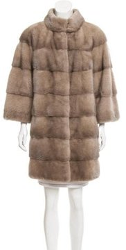 Basler Mink Fur Knee-Length Coat