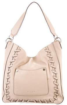 Milly Grained Leather Hobo