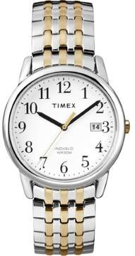 Timex T2P295 Easy Reader Unisex Watch Silver/Gold Two-Tone 35mm Stainless Steel