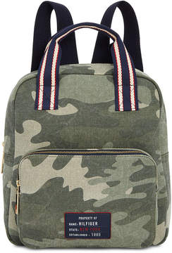 Tommy Hilfiger Bowers Camo Canvas Backpack, Created for Macy's