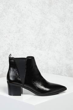 Forever 21 Faux Leather Chelsea Boots