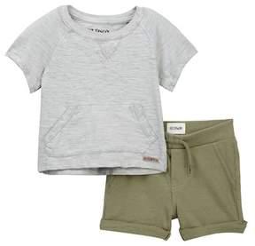 Hudson Cotton Over Dyed Slub Jersey Top & Shorts Set (Baby Boys)