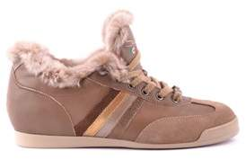 Serafini Women's Brown Leather Sneakers.
