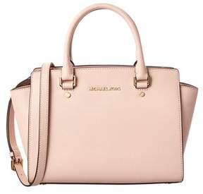 Michael Kors Medium Selma Leather Satchel. - LIGHT PINK - STYLE