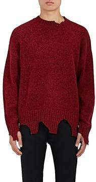 Ovadia & Sons Men's Distressed Wool-Blend Oversized Sweater