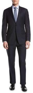 Giorgio Armani Pindot Plaid Wool Two-Piece Suit, Navy