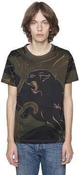 Panther & Camo Cotton Jersey T-Shirt