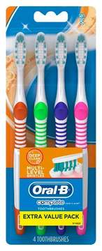 Oral-B Complete Deep Clean Soft Bristle Manual Toothbrush - 4ct