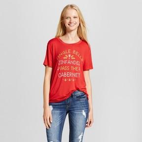 Fifth Sun Women's Jingle Bells Holiday Graphic T-Shirt Juniors') Red