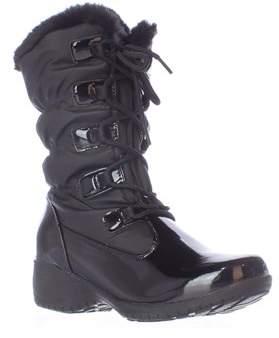 Khombu Audrey Mid Calf Waaterproof Winter Boots, Black.