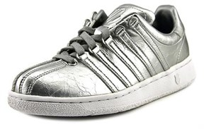 K-Swiss Classic Vn Aged Foil Women Round Toe Synthetic White Sneakers.