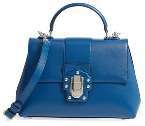 Dolce & Gabbana Medium Lucia Leather Satchel - Blue - BLUE - STYLE