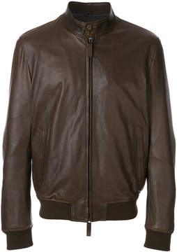 Jeckerson bomber style leather jacket