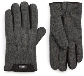 Ted Baker Men's Slick Leather Trim Gloves
