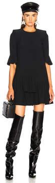 Alexander McQueen Ruffle Hem Mini Dress