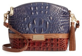 Brahmin Andesite Lucino - Mini Duxbury Leather Crossbody Bag - Blue