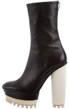 Calvin Klein Collection Leather Platform Boots