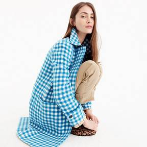 J.Crew Gingham car coat