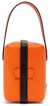 Valextra Tric Trac Grained Leather Clutch - Womens - Orange