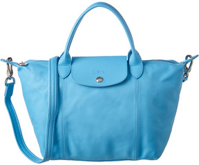 Longchamp Le Pliage Cuir Small Leather Top Handle - BLUE - STYLE