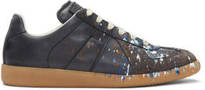 Maison Margiela Black Paint Splash Replica Sneakers