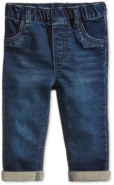 First Impressions Embroidered Pull-On Jeans, Baby Girls (0-24 months), Created for Macy's