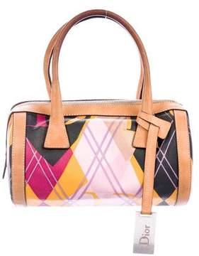 Christian Dior Printed Coated Canvas Handle Bag