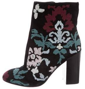 Rebecca Minkoff Suede Embroidered Boots