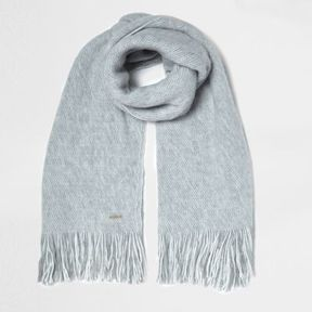 River Island Womens Grey textured blanket scarf