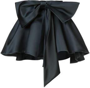 Dice Kayek satin gathered bow mini skirt