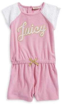 Juicy Couture Little Girl's & Girl's Lace-Trimmed Romper