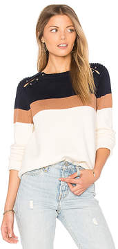525 America Stripe Shoulder Barbell Sweater
