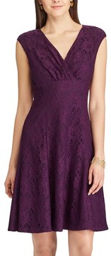 Chaps Women's Lace Fit & Flare Dress