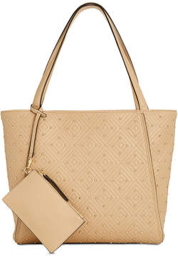 INC International Concepts I.n.c. Quiin Quilted Studded Tote, Created for Macy's