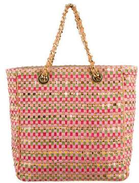 MZ Wallace Woven Sequin-Accented Tote