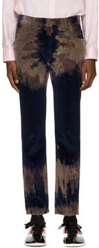 Gucci Blue Tie-Dye Chlorine Punk Trousers