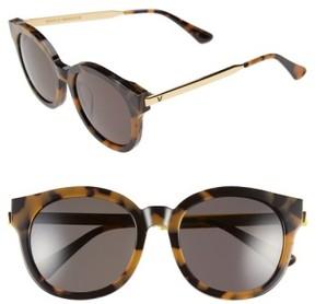 Gentle Monster Women's 53Mm Round Sunglasses - Tortoise/ Gold/ Black Lens