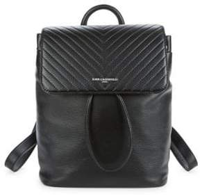 Karl Lagerfeld Quilted Leather Backpack