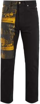 Calvin Klein Car Crash-print straight-leg jeans