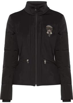 Fendi Karlito Embellished Quilted Down Ski Jacket - Black