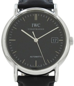 IWC Portfino Stainless Steel / Leather Automatic 39mm Mens Watch