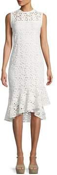 Shoshanna Carlita Sleeveless Asymmetric Lace Dress