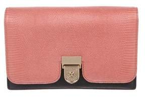 Victoria Beckham Lizard & Leather Clutch